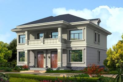 190平二层双拼别墅设计图,单户95平左右