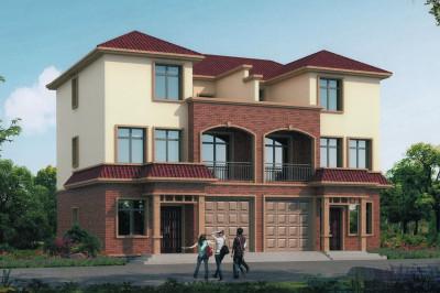 16×12米兄弟双拼别墅自建房设计图,外观低调奢华