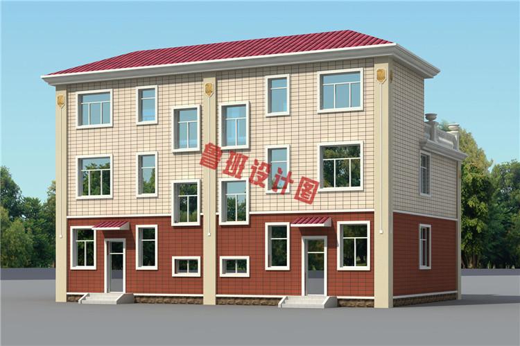 三层双拼联排别墅设计图片