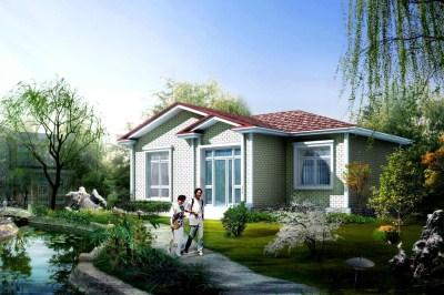 80平乡村美式一层小别墅设计图,户型小但功能全