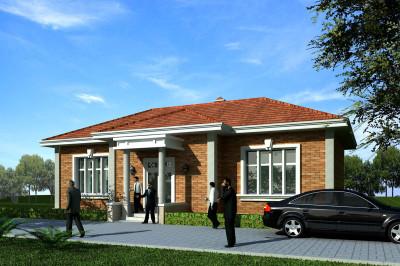 农村8万元一层小别墅设计图,图造价经济,施工