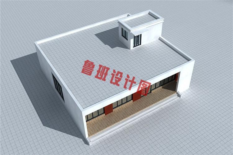 后现代中式小别墅设计鸟瞰图