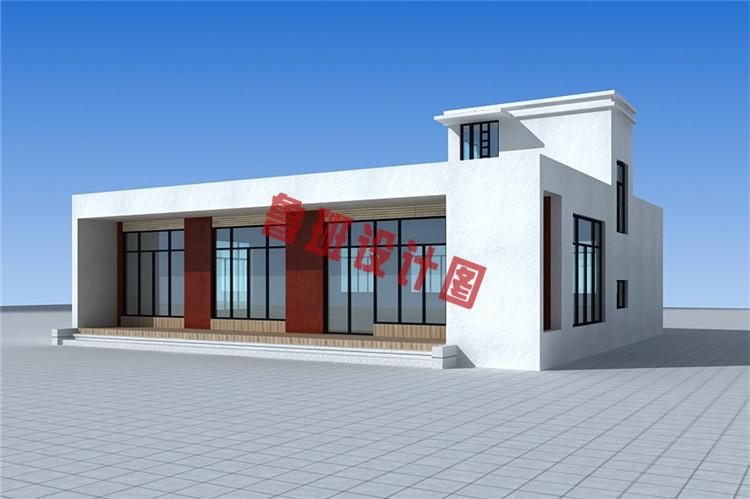 后现代中式小别墅设计外观图