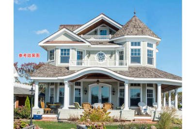 农村二层半别墅设计图20万元,外观效果大方漂亮