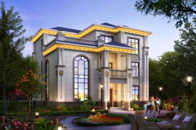 2020年新款别墅外观图设计图纸,外观尽显奢华大