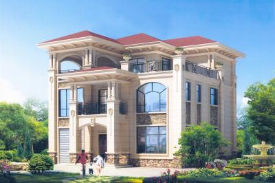 50万左右农村三层别墅设计图,高端欧式风格