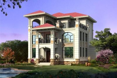 最好看的农村三层楼房,自建别墅设计图,还带地下室