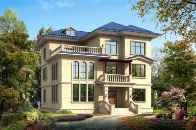 三层30万别墅图片大全设计图,搭配美观,居住舒适。