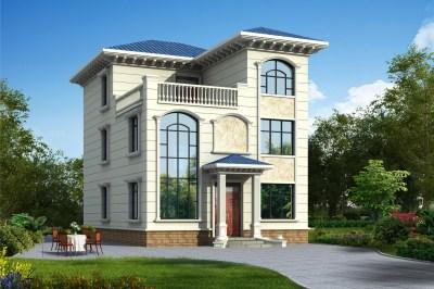 120平三层别墅房屋设计图,外观时尚,户型合理
