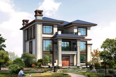 新中式三层自建房屋设计图,非常精致的一款小洋楼