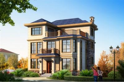 农村三层楼房新款图片设计图,外观新颖漂亮!