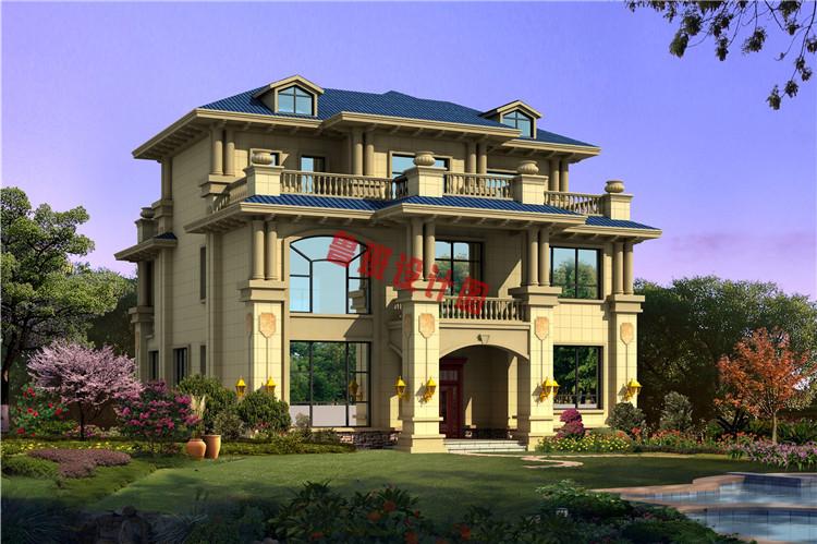 欧式三层别墅设计效果图