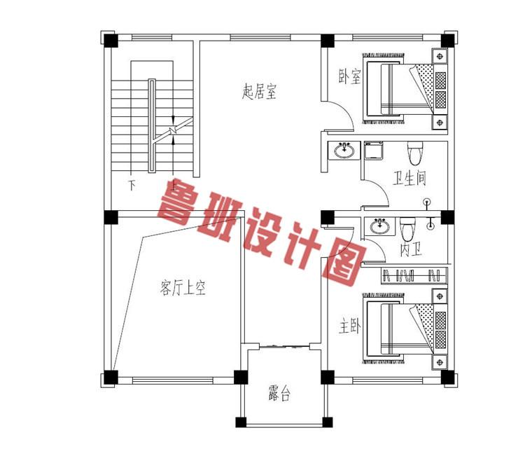 热销款三层别墅推荐房屋设计二层户型图