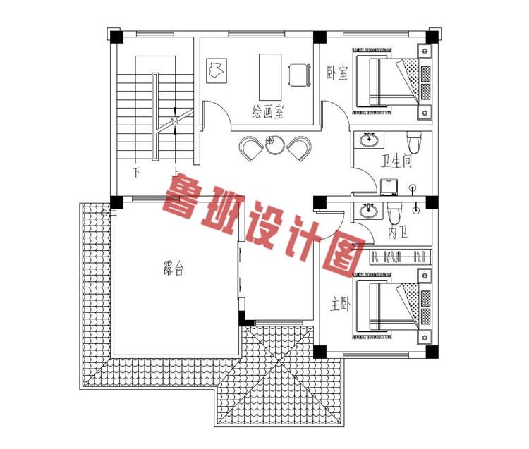 热销款三层别墅推荐房屋设计三层户型图