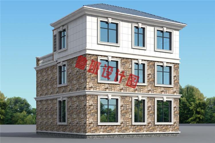 三层别墅设计背面图