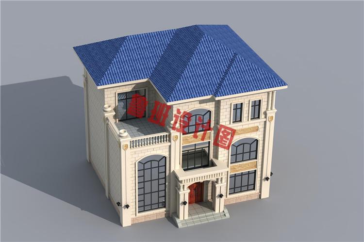 三层带地下室别墅洋房设计外观图