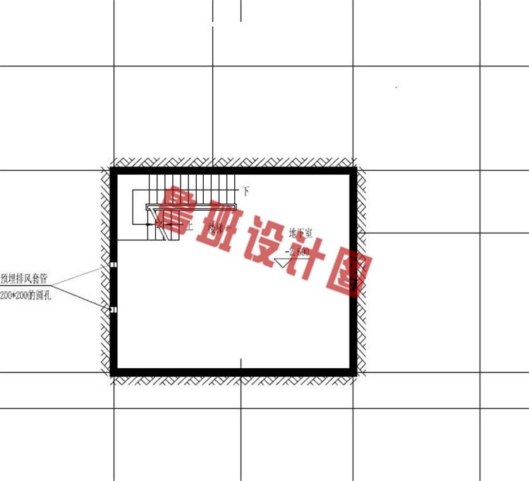 三层带地下室别墅洋房设计地下室户型图