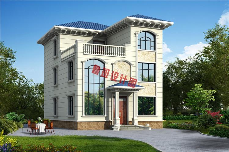 120平三层别墅设计效果图
