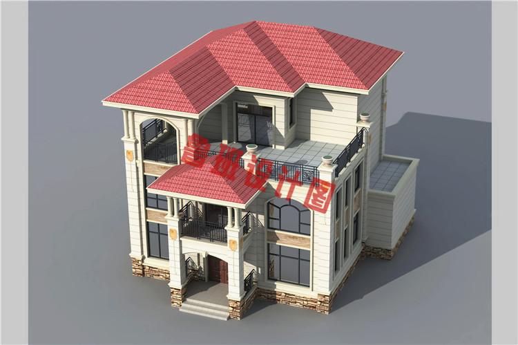 住宅公园三层别墅设计图纸,5套简欧风格小别墅