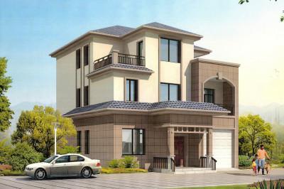 带车库三层别墅设计图,外观图设计美观时尚