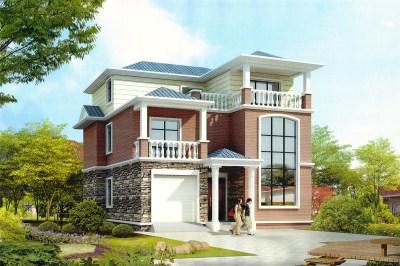 农村40万三层别墅设计图片,美观大方,富有现代气息。