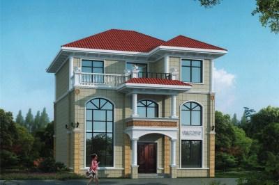 12×10米农村三层别墅设计图,外观大气,简单、实用。