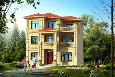 100平方米房屋设计图,时尚简单三层别墅户型