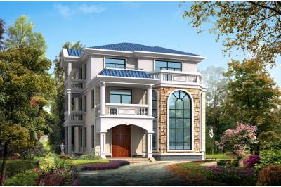 140平经典复式三层别墅房屋设计图,高端、大气。