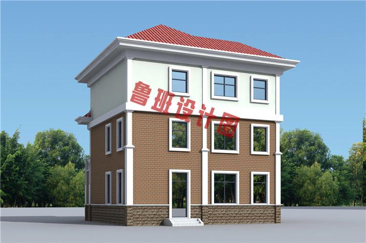 三层现代风格农村别墅设计图片