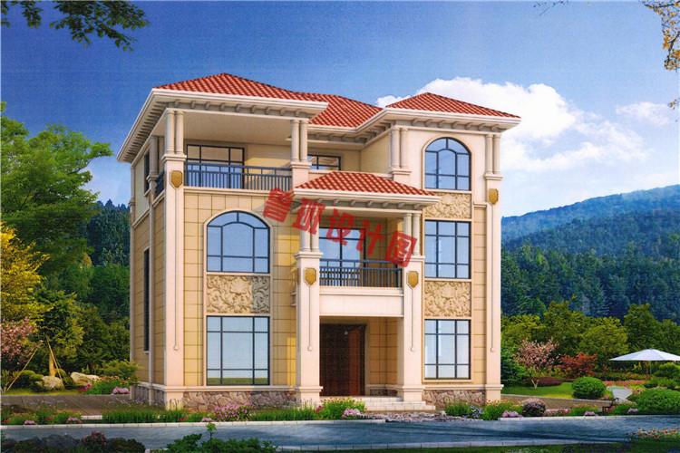 典雅欧式三层别墅设计效果图