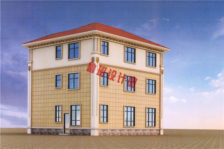 典雅欧式三层别墅设计外观图