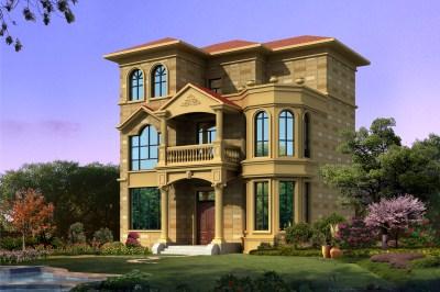 农村20万三层别墅设计图片,自建房有面子