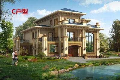 好看的农村二层半别墅设计图,外观高端大气,线条优美。
