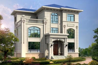 30万以内农村建房三层别墅设计图,外观端庄耐看,占地110平米。