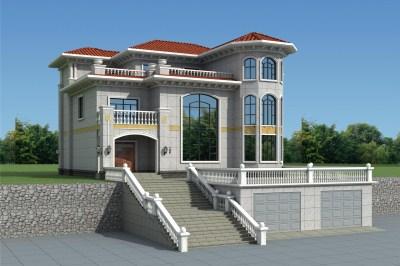 农村60万别墅款式设计图,外观精致漂亮,派头十足。