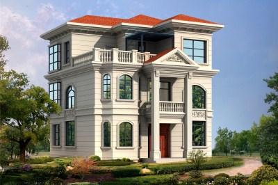 25万左右农村三层别墅房屋设计图,外观大气上档次