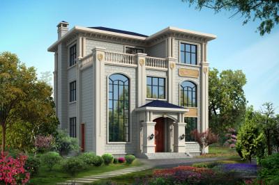120平米别墅设计图三层自建房,看上去非常高端、大气。
