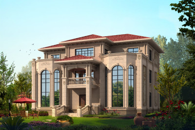 农村70万三层别墅款式设计图,豪华大气上档次