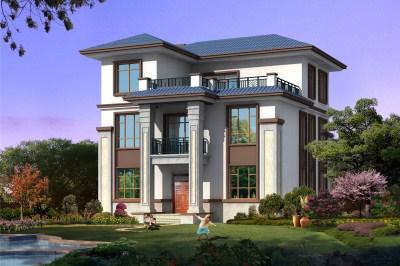 二层半别墅设计图30万造价,时尚 现代,富有时代的韵味 三层别墅设