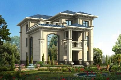40万经典三层小别墅自建房设计图,满足大家庭需求