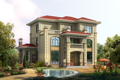 160平三层农村自建房别墅设计图,房型十分好看,采光效果极佳