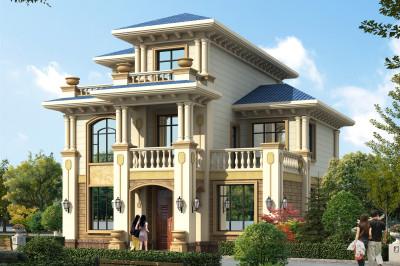 110平三层欧式乡村小别墅设计图,小平米大格局