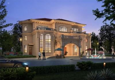 100万左右农村三层别墅设计图,高贵典雅,豪宅的标配。