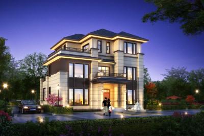 2020年最好看的农村三层别墅设计图,比简欧大气,时尚