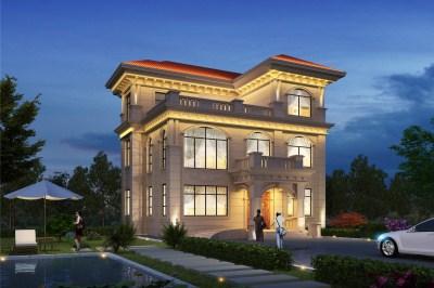 新农村110平方三层自建房设计图,门庭很有创意