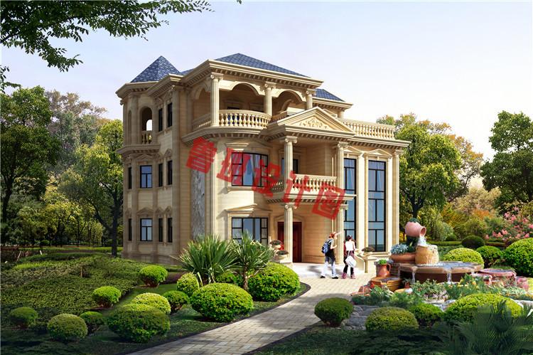 富有高级感的欧式三层别墅设计效果图