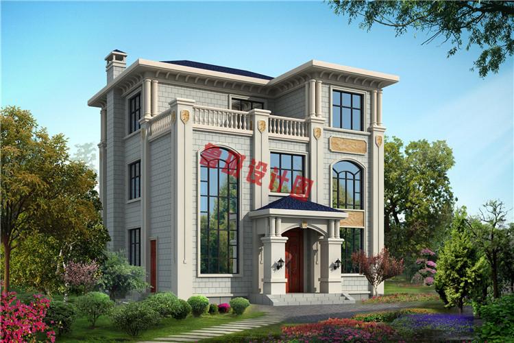 120平三层欧式豪华房屋设计效果图