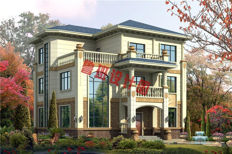 三层欧式别墅设计效果图