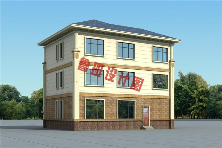 三层欧式别墅设计背面图