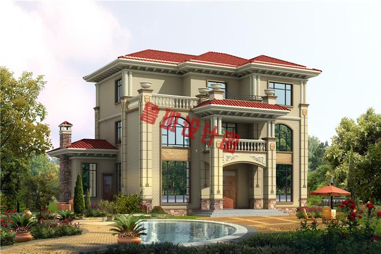 经济实用的三层农村别墅设计效果图